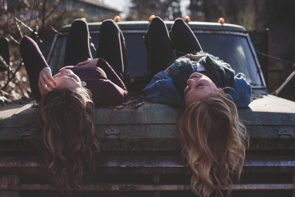 Girls on Car